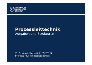 Aufgaben und Strukturen der Leittechnik - Fakultät Elektrotechnik ...