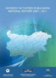 geodesy activities in bulgaria national report 2007 - Permanent ...