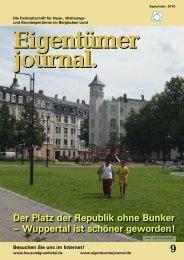 Die Fachzeitschrift Für Haus-, Wohnungs - Eigentümerjournal