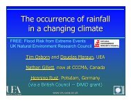 The occurrence of rainfall in a changing climate - Natural ...