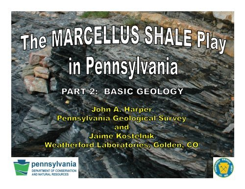 Basic Geology - Pennsylvania Department of Conservation and