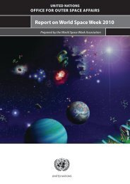 Report on World Space Week 2010