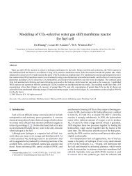 Modeling of CO2-selective water gas shift membrane reactor for fuel ...
