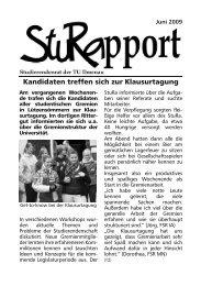 StuRapport 2009 06 - StuRa TU Ilmenau