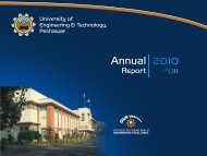 UET Annual Report 2010-11 - University of Engineering ...
