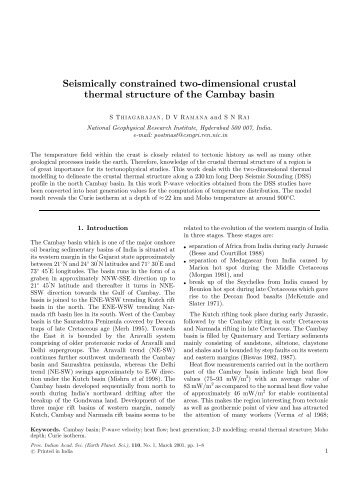 Seismically constrained two-dimensional crustal thermal structure of ...