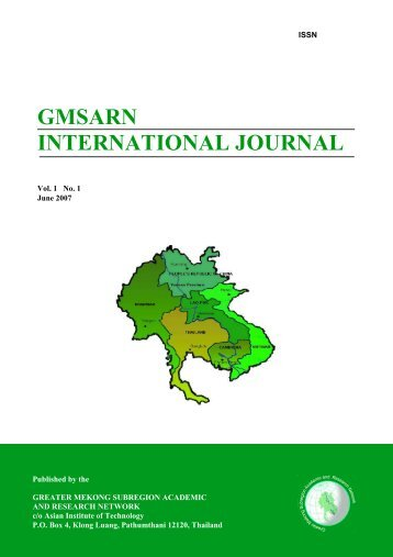 GMSARN INTERNATIONAL JOURNAL