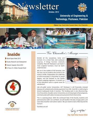 NEWS - University of Engineering & Technology, Peshawar