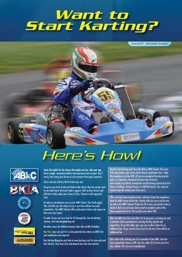 'Start Karting' brochure - Association of Racing Kart Schools