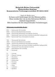 Historisches Seminar - Philosophische Fakultät - Heinrich-Heine ...