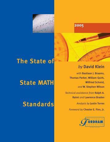 The State of State Math Standards 2005 - JHU Mathematics