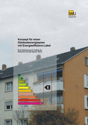 Konzept für einen Gebäudeenergiepass mit Energieeffizienz-Label