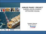jubilee phase 1 project - AFTP