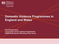 Accredited Domestic Violence Programmes in England and Wales