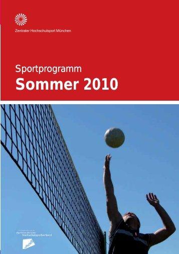 Sportporgramm München Sommer 2010 - ZHS