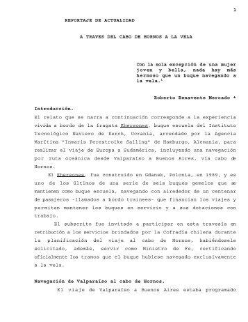 1 REPORTAJE DE ACTUALIDAD A TRAVES ... - Revista de Marina