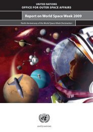 Report on World Space Week 2009