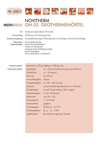 NOVITHERM GM 03 GEOTHERMIEMÖRTEL - Schretter & CIE