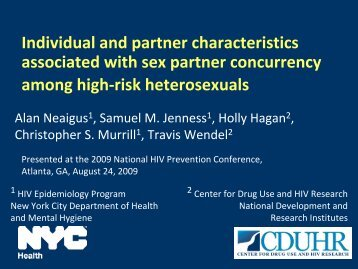 Individual and Partner Characteristics Associated with ... - NYC.gov