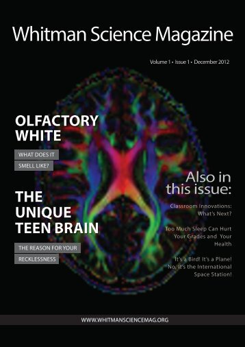 first issue - Whitman Science Magazine