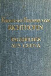 Ferdinand von Richthofen's tagebücher aus China - Index of