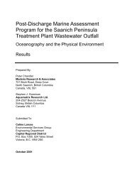 Post-Discharge Marine Assessment Program for the Saanich ...