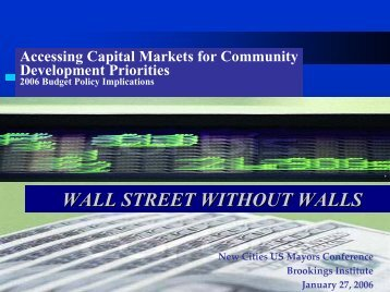 Stanton, G. 2006. Accessing Capital Markets for Community