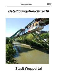 Beteiligungsbericht 2010 Stadt Wuppertal
