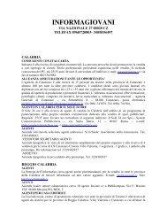 informagiovani - Comune di Piana degli Albanesi