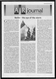 QallJ journal - The Association of Jewish Refugees