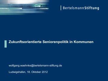 Vortrag, Wolfgang Wähnke, Bertelsmann Stiftung