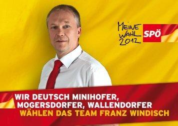 Wir DEUTSCH MiNiHOFEr, MOGErSDOrFEr ... - SPÖ Mogersdorf