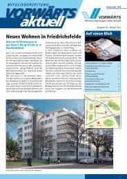 Neues Wohnen in Friedrichsfelde - Wohnungsbaugenossenschaft ...