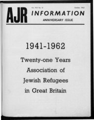 Twenty-one Years Association of Jewish Refugees in Great Britain