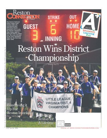 Reston Wins District Championship - The Connection Newspapers