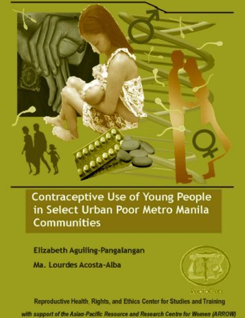 Contraceptive use of young people in select urban - Youth Sextion