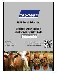 2012 Retail Price List - Bovine Elite, LLC