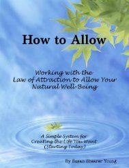 Get a free sample look at - Law of Attraction and the Art of Allowing