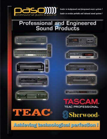 TEAC 2010 NEW CATALOGUE - Paso Sound Products