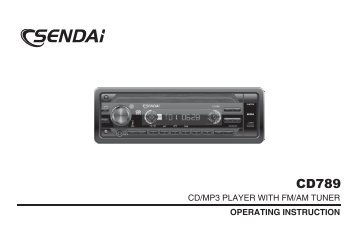 CD/MP3 PLAYER WITH FM/AM TUNER OPERATING ... - Halfords