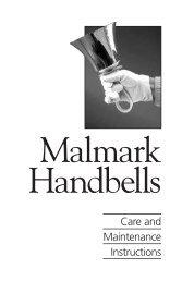 Handbell Care and Maintenance Manual - Malmark, Inc