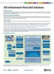 ADI Infotainment Head Unit Solutions - Analog Devices