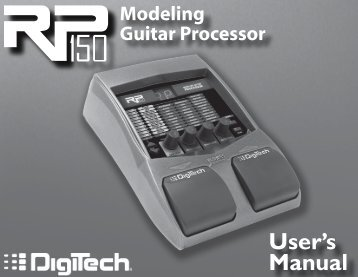 RP150 Owner's Manual-English - Digitech