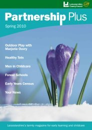 Partnership Plus Spring 2010 - Leicestershire County Council