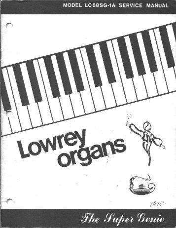 specifications lowrey organ forum rh yumpu com Lowrey Organ Models Lowrey Genie Organ Manual