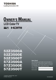LCD52/57Z3500AET LCD Color TV Owners Manual - Toshiba REGZA
