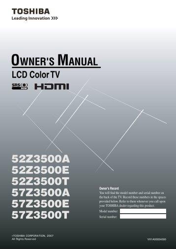 20hl85 owner s manual english toshiba canada rh yumpu com Toshiba 42HL196 Troubleshooting Toshiba 42HL196 Blinking Red-Light