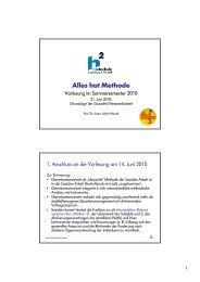 Vorlesung SS 2010 - 09 - Netzwerkarbeit - puwendt.de