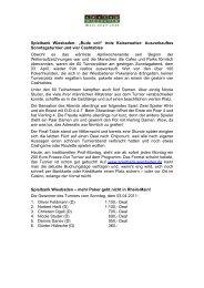 Sonntagsturnier vom 03.04.2011 - Spielbank Wiesbaden