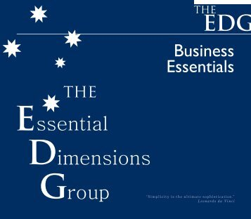 Business Essentials - TheEDG